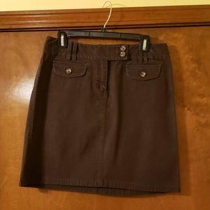 Ann Taylor Brown mini skirt